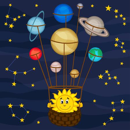 Solar system like balloon
