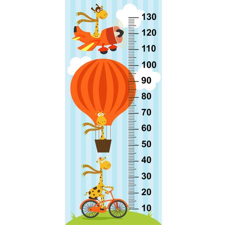tallness: giraffe on transport height measure (in original proportions 1: 4)