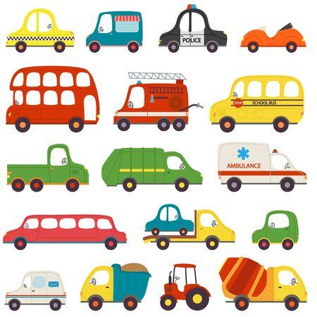 Set of isolated transports - vector illustration, eps Illustration
