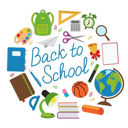 Back to school - vector illustration, eps Illustration