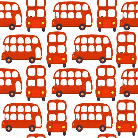 seamless pattern with london red bus - vector illustration, eps