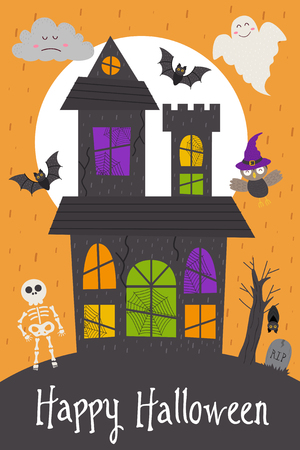 Halloween card design Illustration