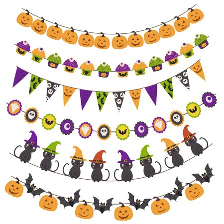 Halloween pattern brush garlands