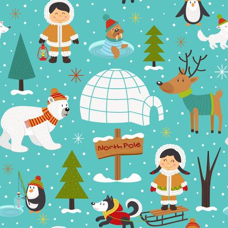 antarctica: Christmas card design.