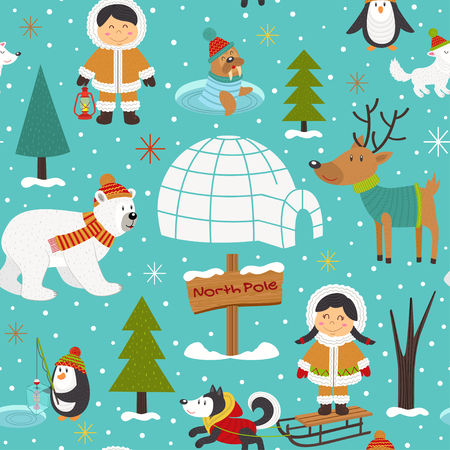 Kerstkaart ontwerp. Vector Illustratie