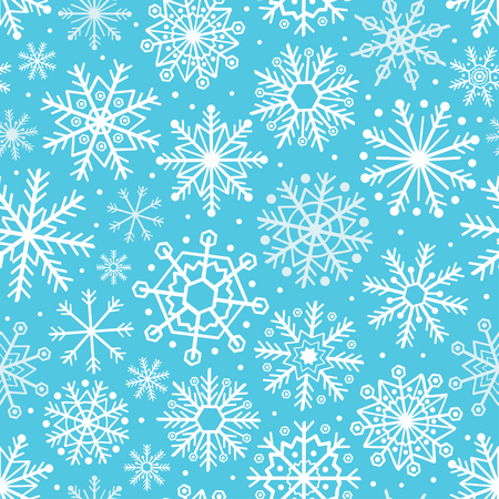 Blue pattern with snowflakes vector illustration