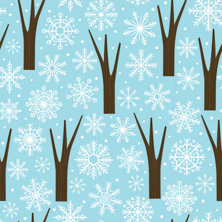 seamless pattern with snowflakes - vector illustration, eps