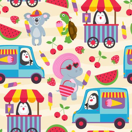 ice cream - vector illustration