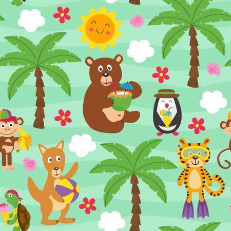 naadloos dierenpatroon - vectorillustratie Vector Illustratie