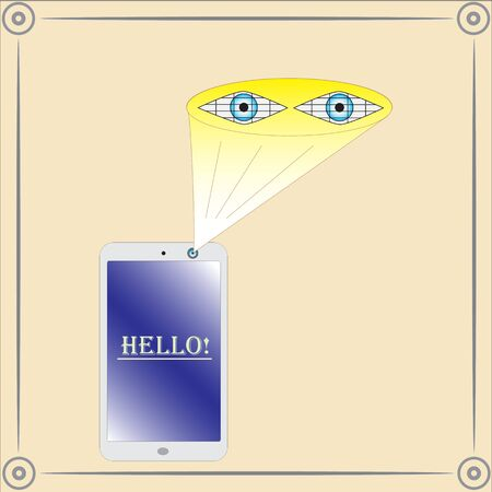 Smartphone with a retinal scanner.