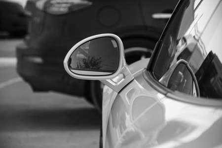 Rearview mirror with mockup background 版權商用圖片
