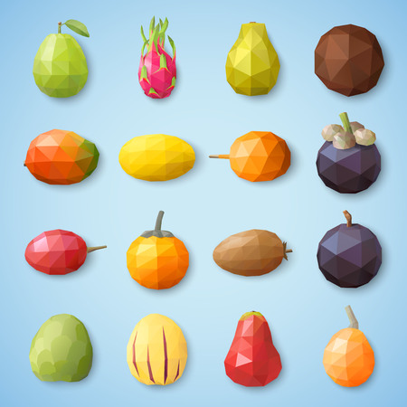 Fruit icons. Vector illustration Illustration