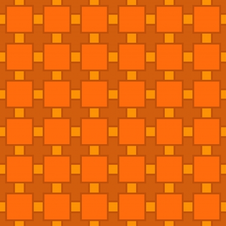 Orange geometric seamless pattern - vector Stock Vector - 18119925
