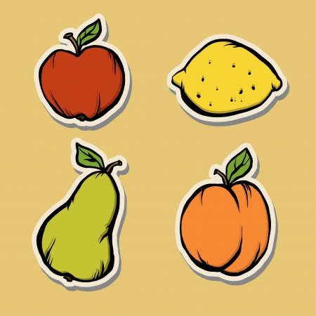 Isolated fruit set - vector  Stock Vector - 18120021