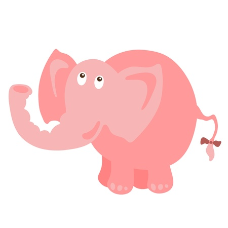Isolated pink elephant - vector illustration Vector
