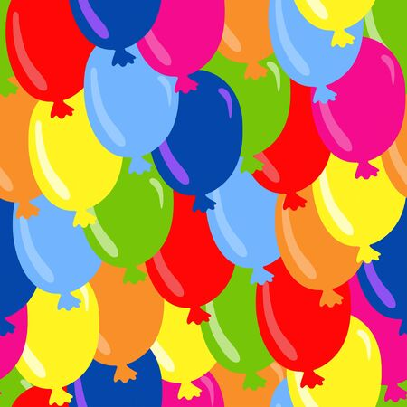 Seamless pattern with colorful balloons - vector Stock Vector - 18120022