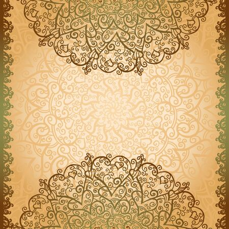 Vintage gold flowers ornament background with text field-vector Stock Vector - 18120072