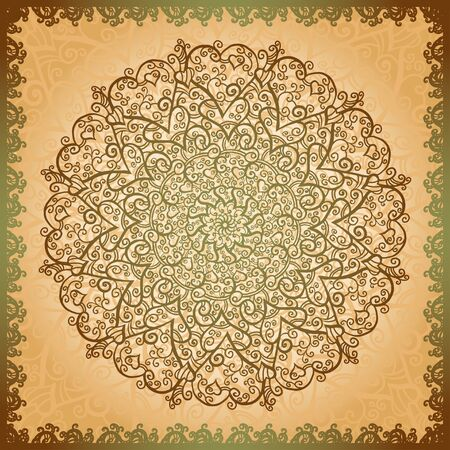 Vintage gold flowers ornament background-vector Stock Vector - 18120077