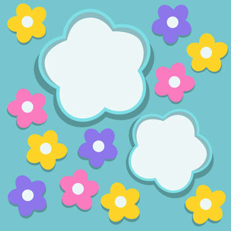 Background with floral frames Stock Vector - 18257022