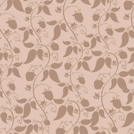 Foral berries pink seamless pattern -vector Vector