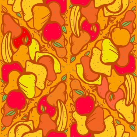 Seamless pattern with fruits and vegetables- vector Vector