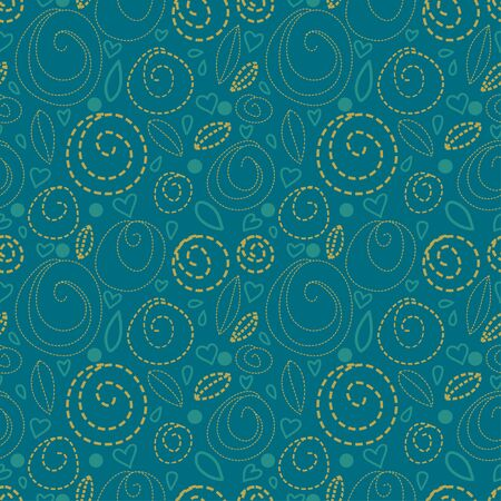 Green abstract seamless pattern-vector Vector
