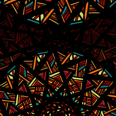 Decorative background with stylized stained glass  Vector