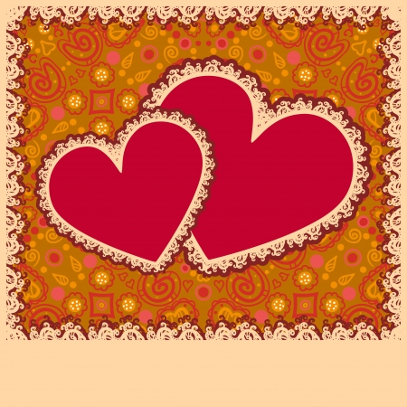 Lacy Valentines day heart with text field-vector Stock Vector - 18563710
