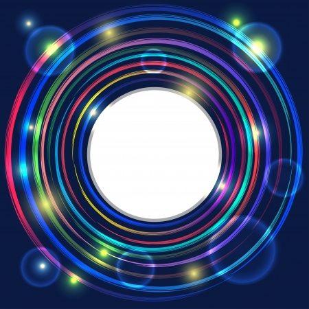 night vision: Abstract background with colorful circles and text field-vector