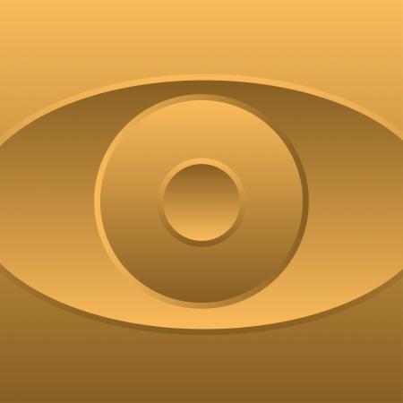 ojo de horus: Oro abstracto ojo s�mbolo vector icono-