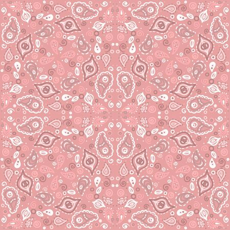 Pink floral seamless ornament endless background with abstract forms-vector Stock Vector - 18563705