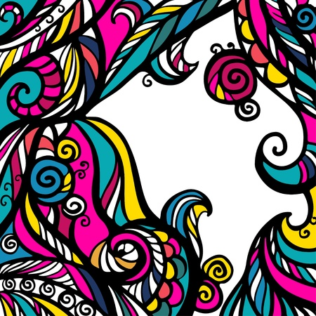 paintings: Colorful abstract background with text field Illustration