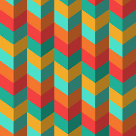 Abstract geometric background with multi-colored stripes waves-vector Stock Vector - 18648793