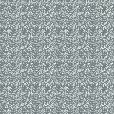 Gray abstract lace roses seamless pattern - vector Vector