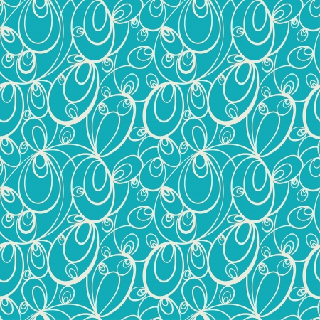 Green abstract seamless pattern with white abstract forms- vector Vector