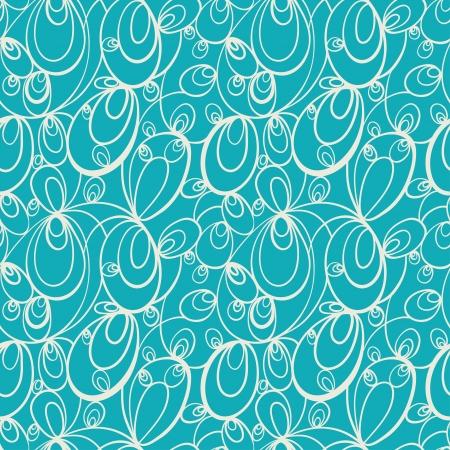 abstracte vormen: Groene abstracte naadloze patroon met witte abstracte vormen-vector