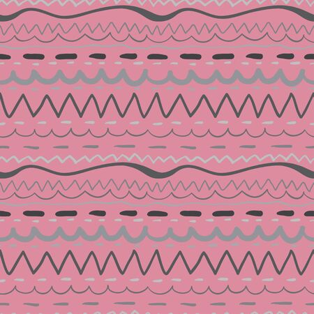Seamless pattern with grey stripes on pink background Stock Vector - 18791333