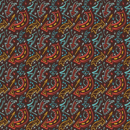 Seamless pattern with colorful arrows  Vector
