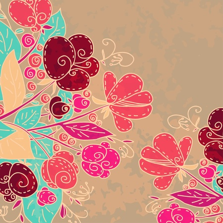 bourgeon: Floral background with space for text Illustration
