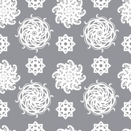 Gray abstract floral seamless pattern Vector