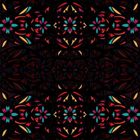 vetrate artistiche: Sfondo decorativo con vetro colorato stilizzato