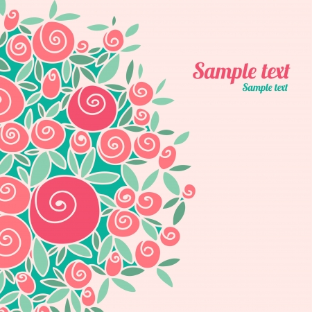 Vintage cards with stylized roses and space for text                Vector