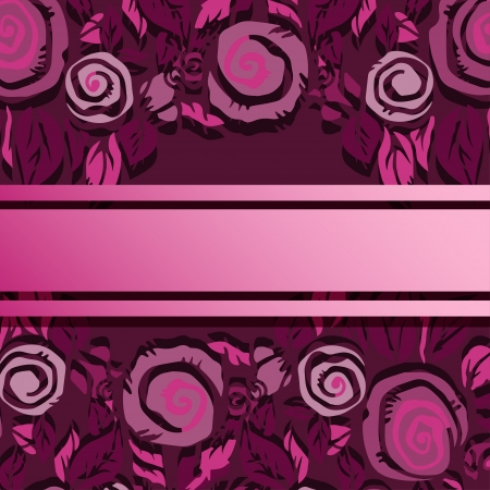Holiday abstract pink background with roses and text field Stock Vector - 18791471