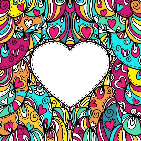 Holiday abstract colored background with space for text  in the form of heart Illustration