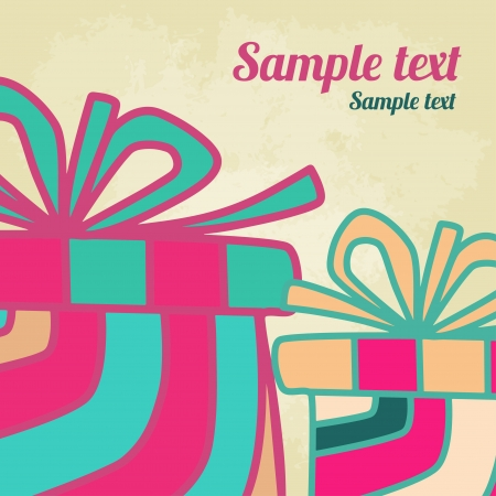 Holiday background with gifts and  space for text  Vector
