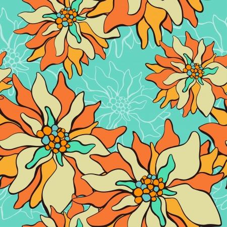 lotus effect: Seamless pattern with lotus flowers