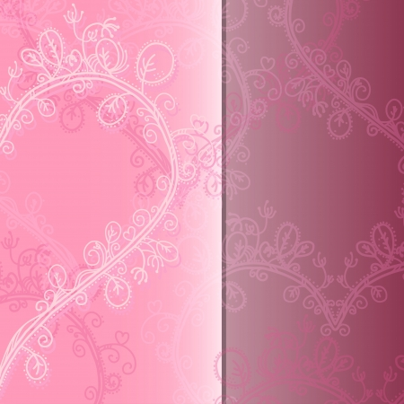 Holiday pink abstract background with lace ornaments and space for text  Vector