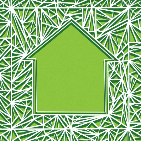 Abstract geometrical  background with space for text  in the form of house  Vector