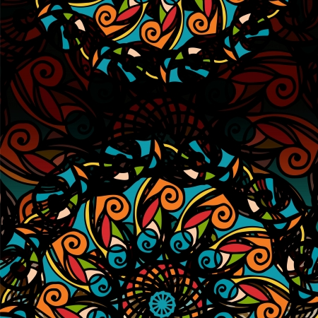 rose window: Decorative background with stylized stained glass