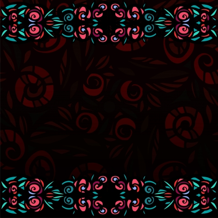 stained glass: Decorative background with stylized stained glass